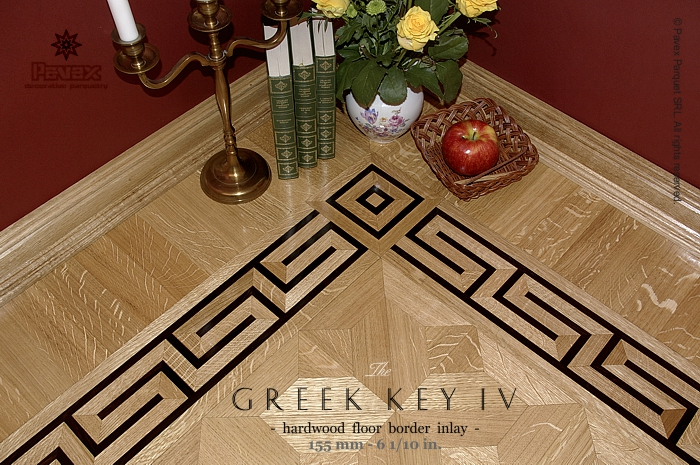 The Greek Key Iv Hardwood Floor Border Inlay Gb 13 1