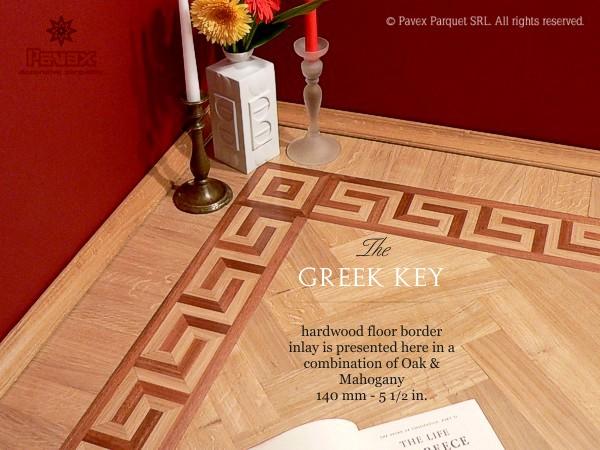 The Greek Key Hardwood Floor Border Pattern Code Gb 1 4