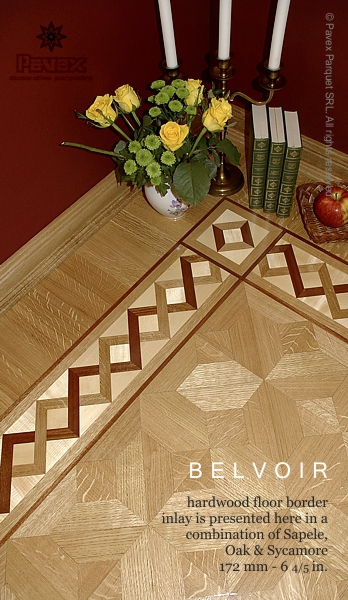 The belvoir hardwood floor border inlay gb 45 1 for Hardwood floor designs borders