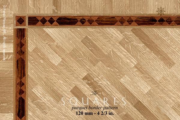 The Squares Hardwood Floor Border Inlay Gb 52 1