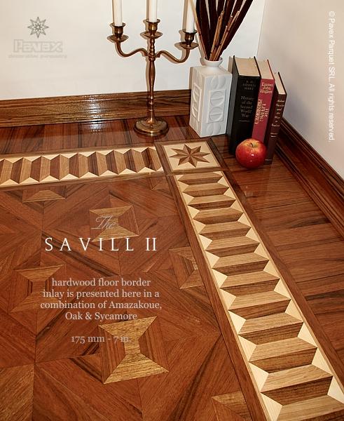 The savill ii hardwood floor border inlay gb 54 1 for Hardwood floor designs borders