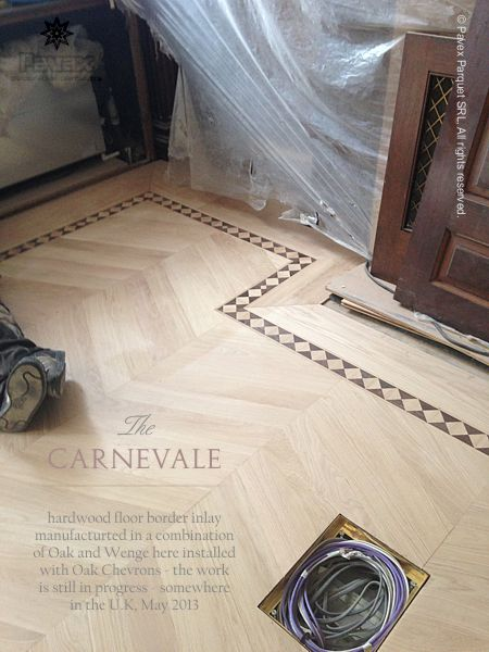 Chevrons + Parquet Border Inlays