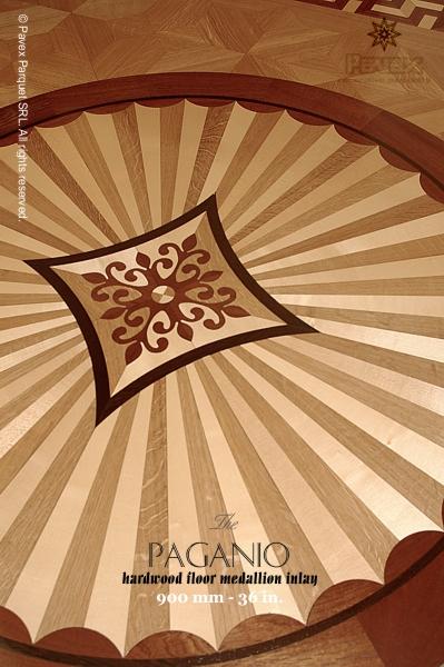 The paganio hardwood floor medallion pattern for Inlay flooring designs