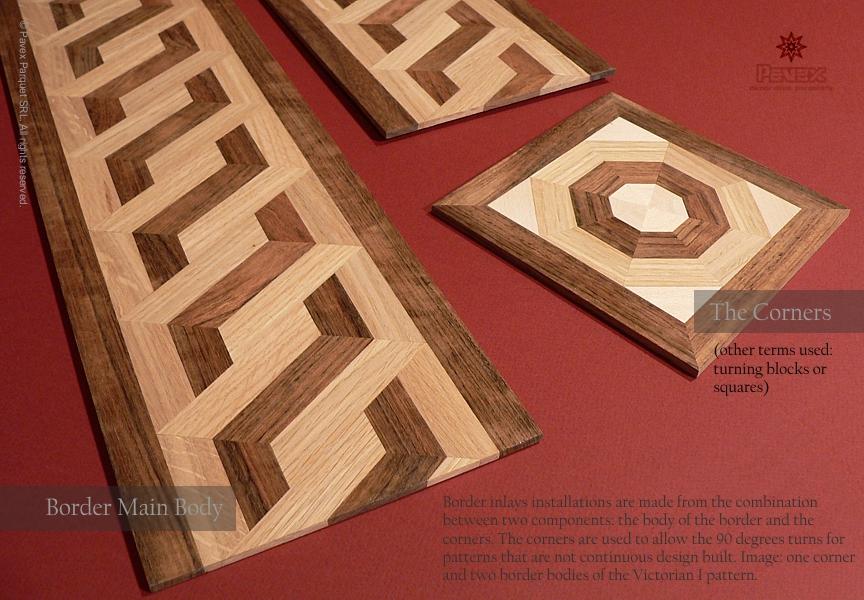 The hardwood floor border components an for Hardwood floor designs borders