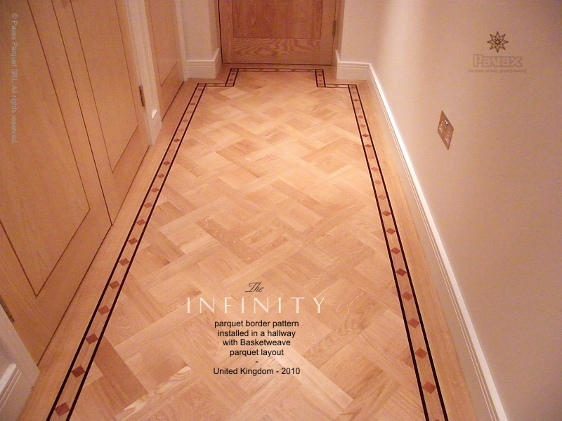 Infinity Pattern Hardwood Floor Borders