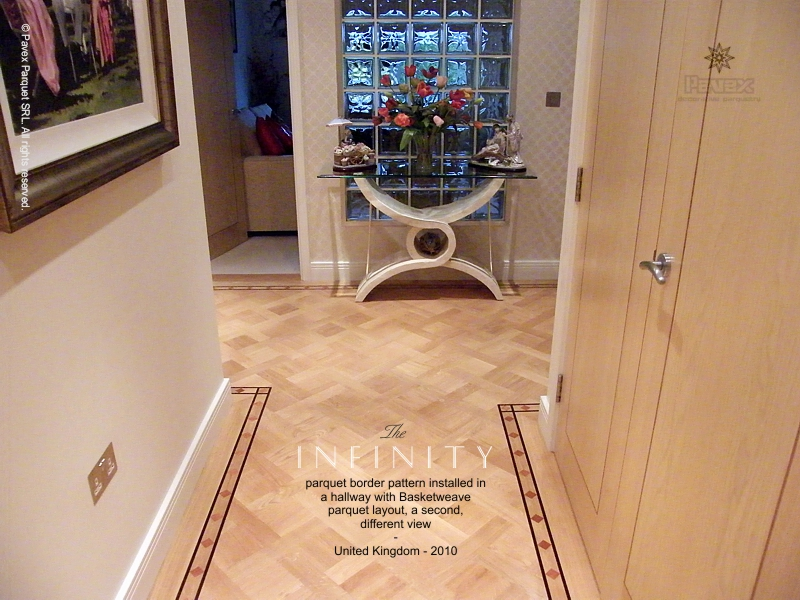 Hardwood Floor Borders - The Infinity Pattern