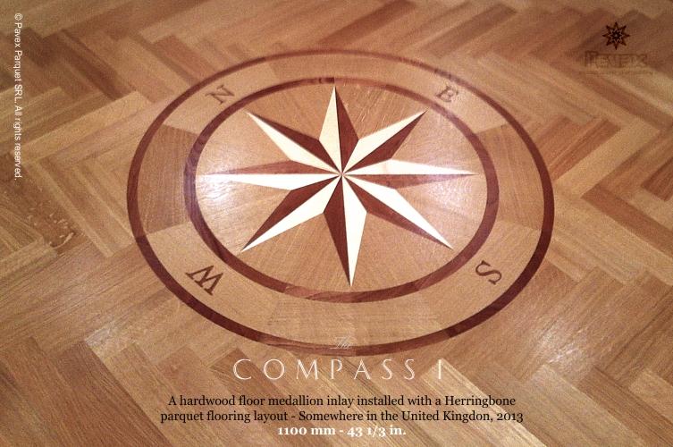 Wonderful No.137: The Compass I Hardwood Floor Medallion