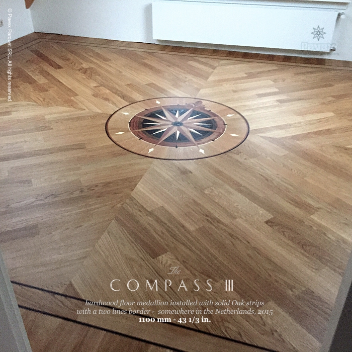 No148 The Compass Iii Hardwood Floor Medallions Installed The