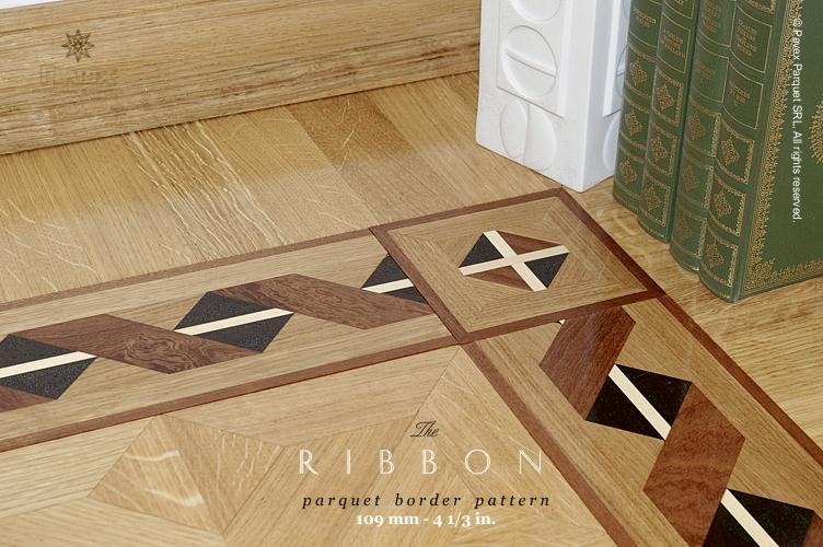 No97 The Ribbon Parquet Floor Border Pattern Pavex