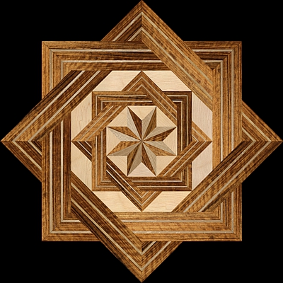 8 RAYS DF II - Hardwood Floor Medallion