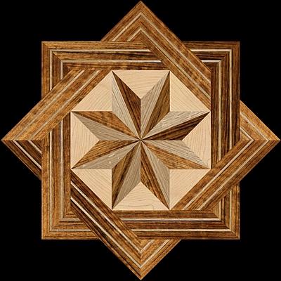 Hardwood floor medallion inlays the geometrica for Wood floor medallion designs