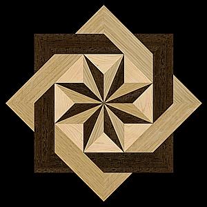 The 8 Rays Simple Hardwood Floor Medallion Patterns