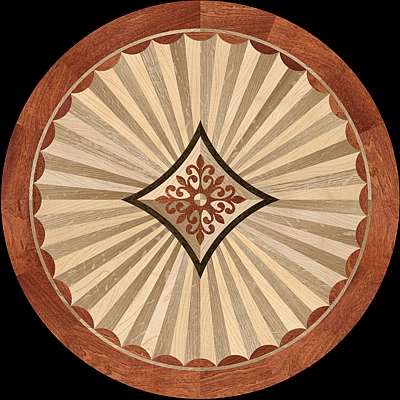 Hardwood floor medallions the marqueteria collection for Wood floor medallions