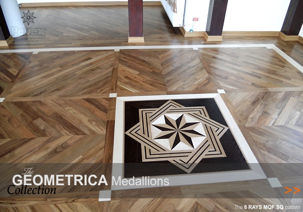Hardwood Floor Inlays custom inlay Hardwood Floor Medallions Geometrica