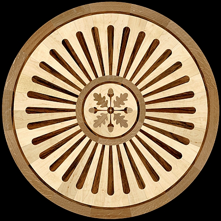 MQM201a - LEAVES & ACORNS hardwood floor medallion