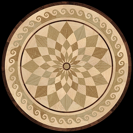 MQM106a - NEPTUNE hardwood floor medallion