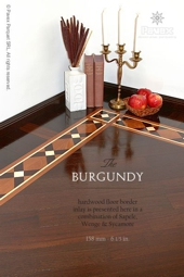 No.100-BURGUNDY hardwood border