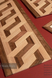 No.118-Hardwood floor borders system