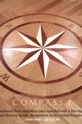 No.137-COMPASS I hardwood floor medallion