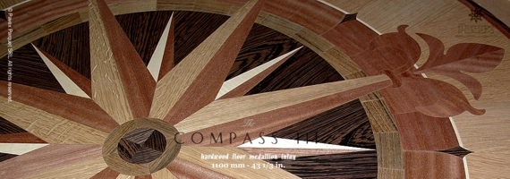 No.138-COMPASS III wood floor medallion