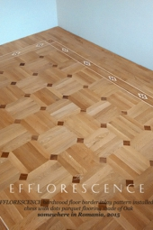 No.143-EFFLORESCENCE hardwood border