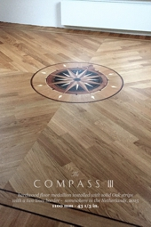 No.148-COMPASS III wood floor medallion installed