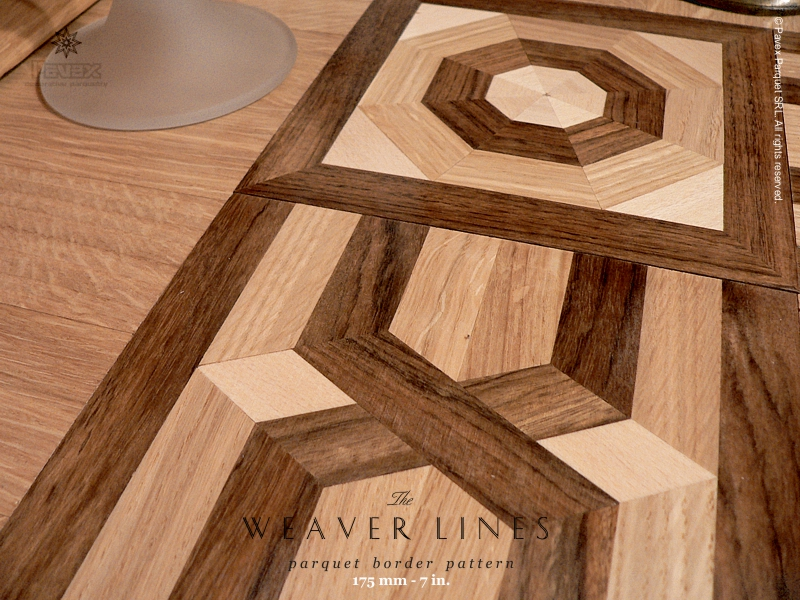 No.12: Weaver Lines hardwood border - closeview