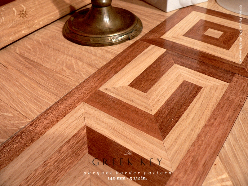 No.18: The Greek Key wood border - detail view