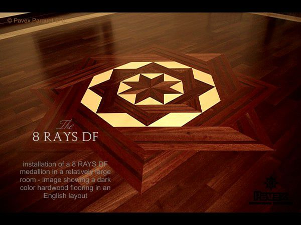 No.23: The 8 Rays DF II hardwood floor medallion