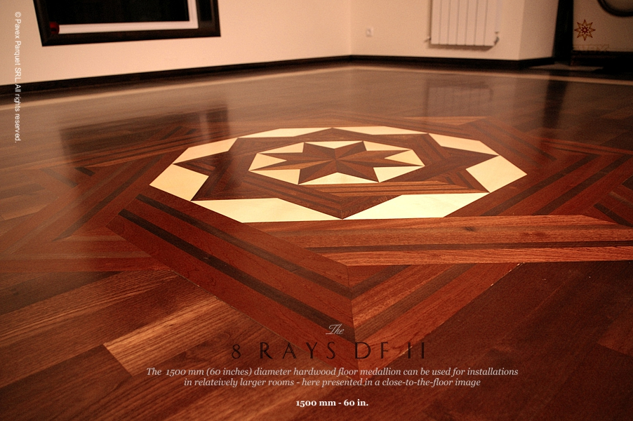 No.24: The 8 Rays DF II Wood Floor Medallion (2)