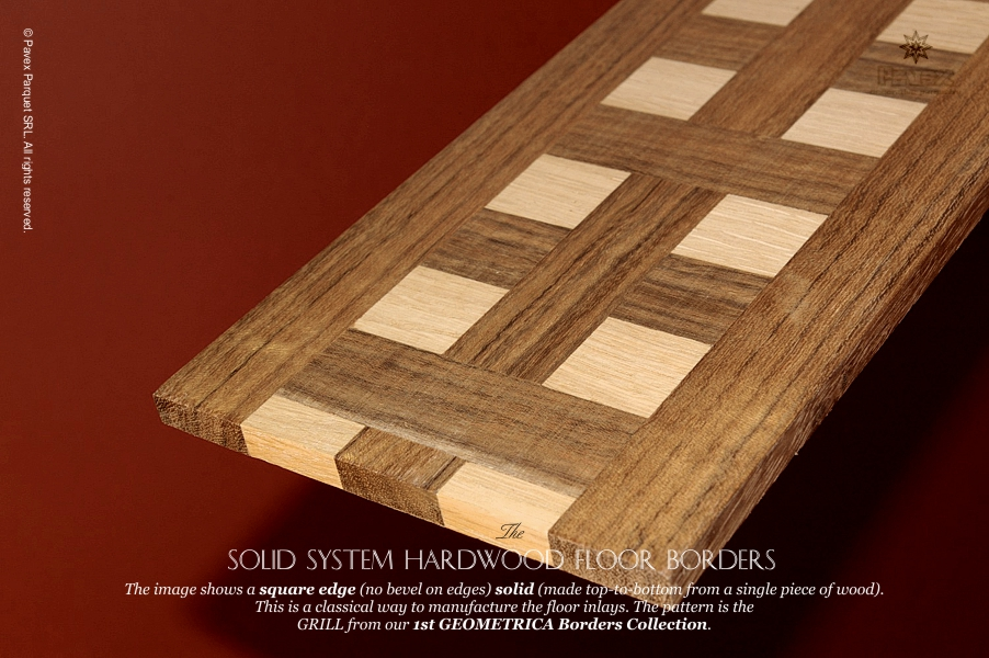No.25: Solid Square Edge Hardwood Border System