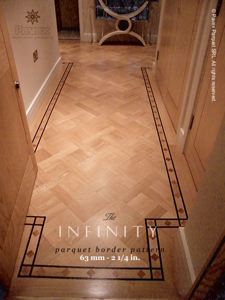 No.27: The Infinity hardwood floor border, U.K. installed