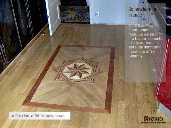 No.29: 8 Rays MQF I wood floor medallion installation