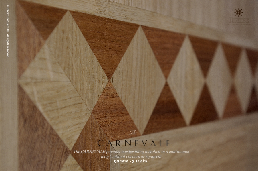 Carnevale hardwood floor border - continuous installation