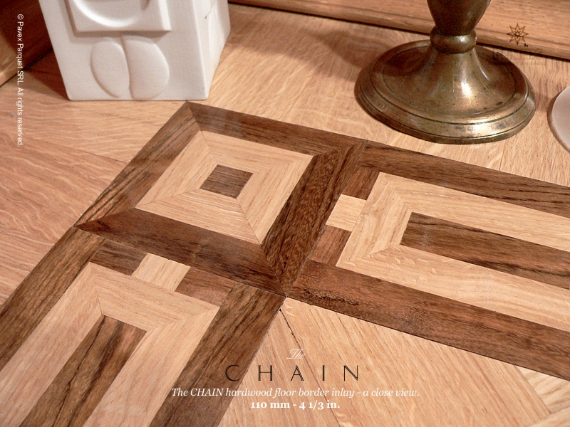 No.38: The Chain wood floor border - closeview