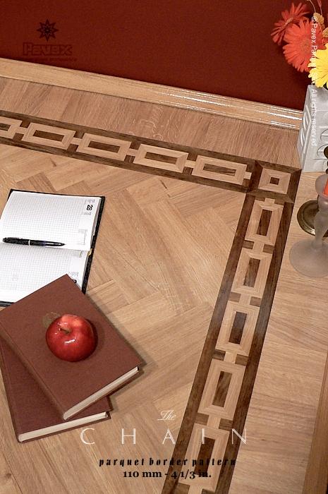 No 3 The Chain Hardwood Floor Border Inlay Gallery I