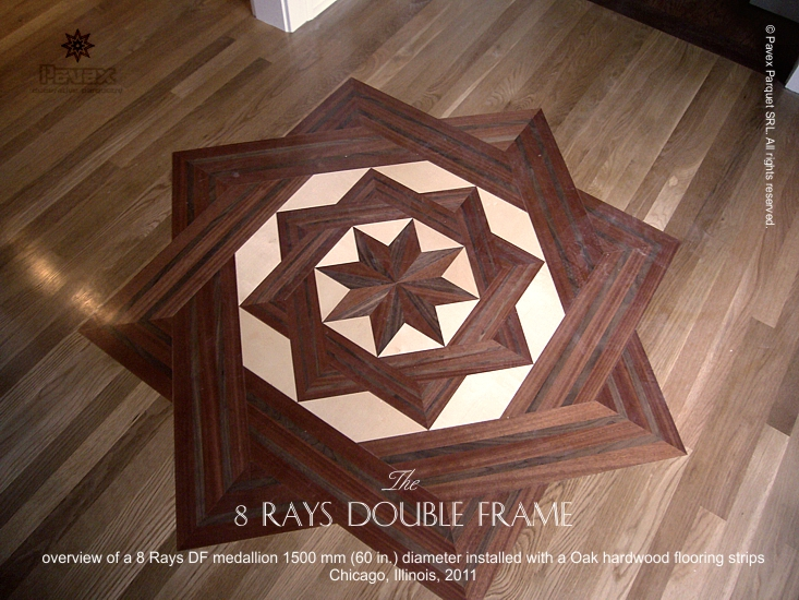 No.46: 8 Rays DF II wood floor medallion installation, Chicago, IL