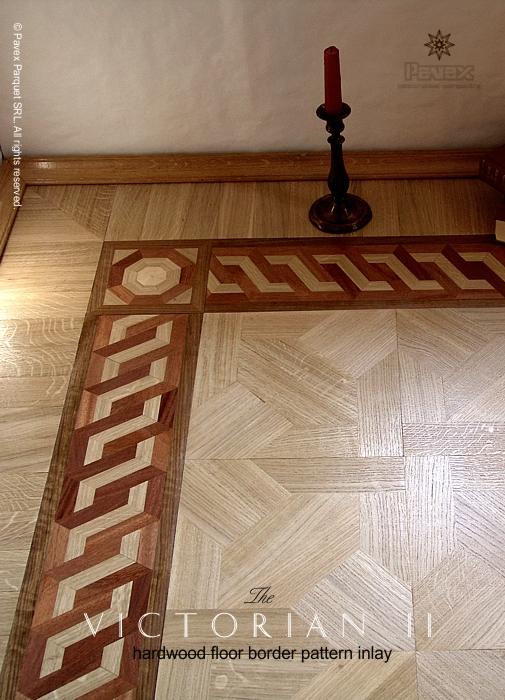 No 58 The Victorian Ii Hardwood Floor Border Inlay