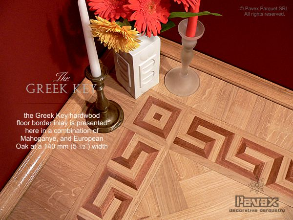 No.61: The Greek Key hardwood border - corner area
