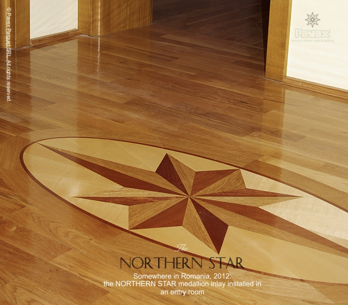 No.66: The Northern Star wood floor medallion