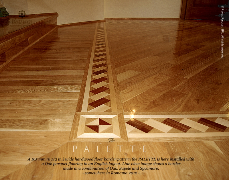 No.68: The Palette hardwood floor border