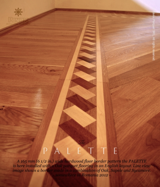 No 69 The Palette Hardwood Border Installed Line View